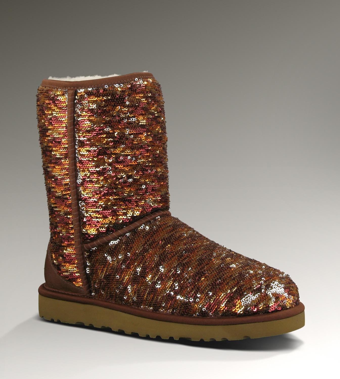 1614655f106 UGG Classic Short Sparkles Boots 1002766 Chestnut Hot Sale [UGG-086 ...