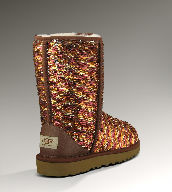 7dc05ffa992 UGG Classic Short Sparkles Boots 1002766 Chestnut Hot Sale [UGG-086 ...