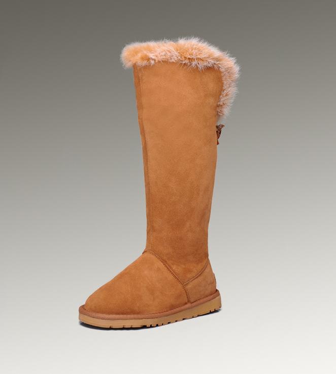 326f0f38f56 UGG Fox Fur Tall Boots 5369 Chestnut Hot Sale [UGG-138] - CAD217.15 ...