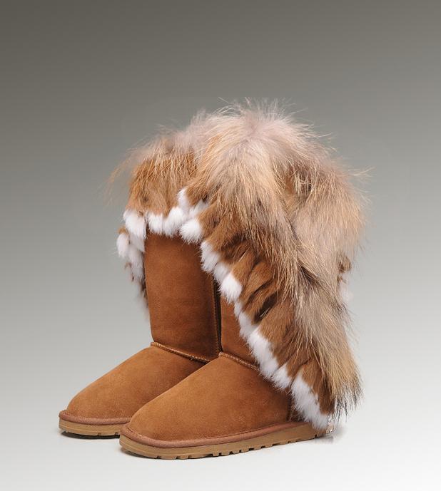 5dc62e06199 UGG Fox Fur Tall Boots 8688 Chestnut Hot Sale [UGG-144] - CAD217.15 ...