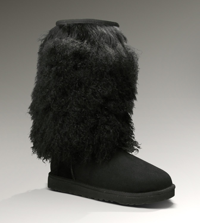 7123718d7ee UGG Sheepskin Cuff Tall 3166 Boots Black Classical [UGG-013 ...