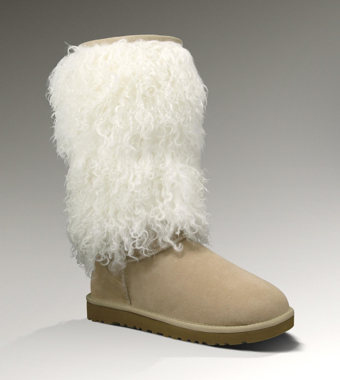 841a5136b75 UGG Sheepskin Cuff Tall 3166 Boots Sand Elegant Clearance [UGG-014 ...